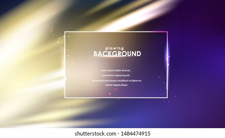 Glowing flickering lights on blurred background. Night sparkle abstract background. Vector illustration.