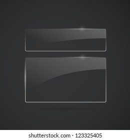 Glowing glass panels. Vector