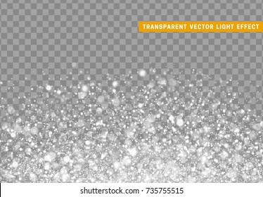 Glowing lights white glitter. Sparkle particles texture. Christmas dust, luxury sparkling vector background