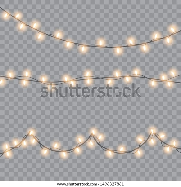 Glowing lights for Xmas Holiday cards, banners, posters, web design. Vector