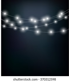 Glowing little lights hanging on a string vector