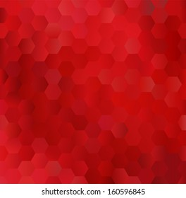 Glowing red background made of hexagons