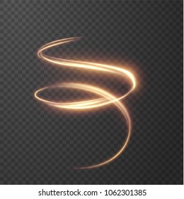 Glowing shiny spiral lines effect vector background. EPS10. Abstract light speed motion effect. Shiny wavy trail. Light painting. Light trail. Vector eps10.