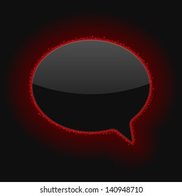 Glowing Speech Bubble. Vector Illustration