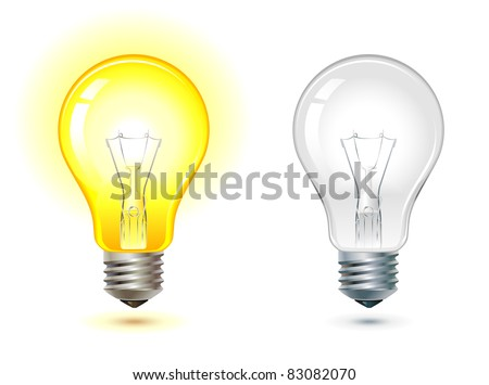 Glowing Turned Off Electric Light Bulb Stock Vector Royalty Free