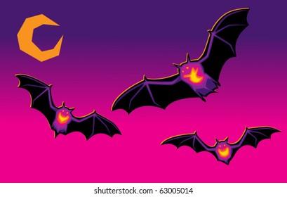 Glowing Vampire Bats