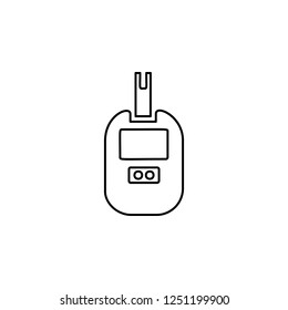 glucometer icon. Simple outline vector of Medicine  set for UI and UX, website or mobile application