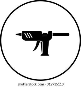glue gun symbol