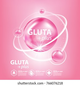 Gluta collagen Serum Skin Care Cosmetic