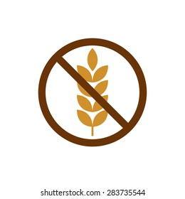gluten free grain vector icon