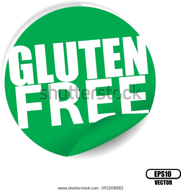 Gluten Free Green Label Sign Stickers Stock Vector (Royalty Free