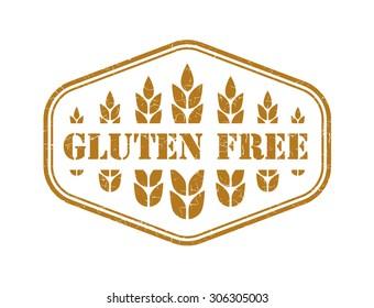 Gluten free grunge retro isolated stamp