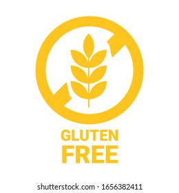 Gluten free icon. Isolated no grain symbol. Vector
