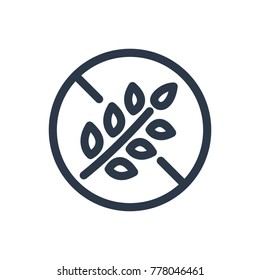 Gluten free icon. Isolated no gluten and gluten free icon line style. Premium quality vector symbol drawing concept for your logo web mobile app UI design.