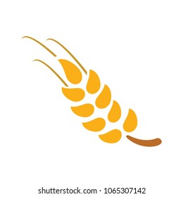 Gluten free icon, Gluten free symbol - healthy and organic symbol, vector wheat illustration