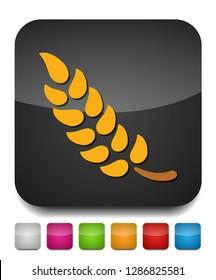 Gluten free icon, Gluten free symbol - healthy and organic symbol, vector wheat illustration