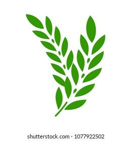 Gluten free icon. vector gluten symbol - healthy organic grain illustration