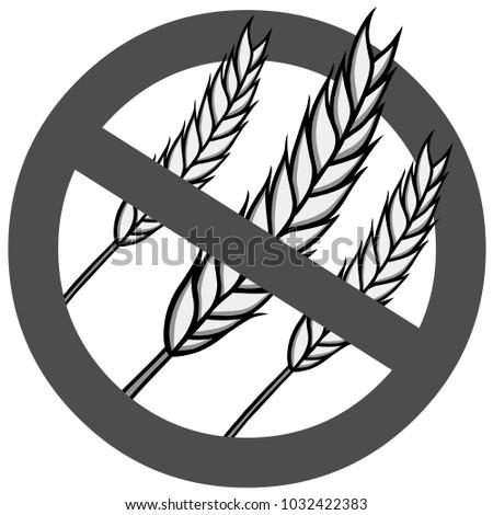 Gluten Free Illustration Vector Cartoon Illustration Stock