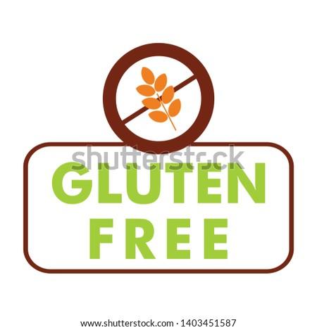 Gluten Free Label Vector Icon No Stock Vector (Royalty Free