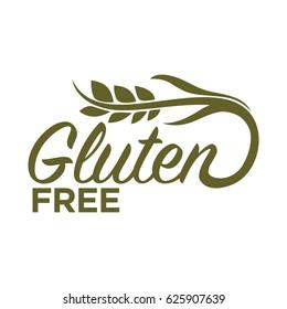 Gluten free in organic heallthy food products logo design