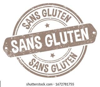 Gluten Free (Sans Gluten) Stamp in French