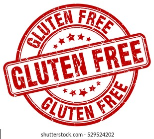 gluten free. stamp. red round grunge vintage gluten free sign