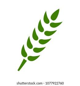 Gluten free symbol icon - healthy and organic symbol, vector wheat illustration