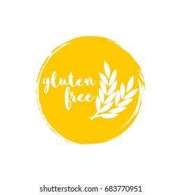 Gluten free - vector badge or sticker design. Vector