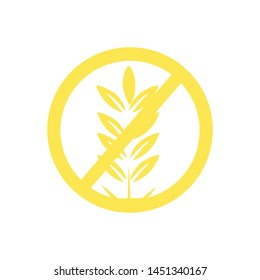 Gluten free vector icon isolated on white background.