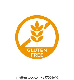 Gluten free vector icon. Isolated.