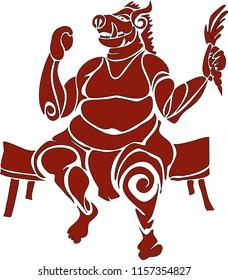 """Gluttony"" Tribal Designs"