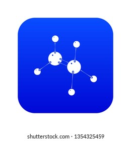 Glycine icon blue vector isolated on white background