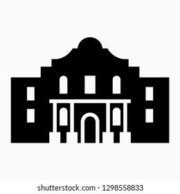 Glyph The Alamo vector icon