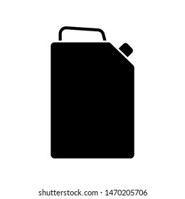 Glyph canister of gasoline. Fuel canister icon. Jerrycan symbol. Simple vector illustration isolated on white background