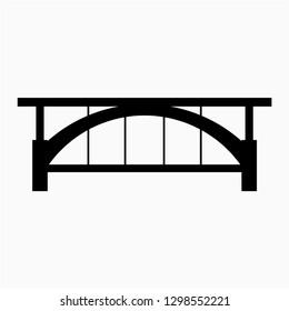 Glyph Dom Luis bridge vector icon