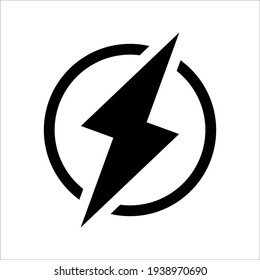 Glyph energy pixel perfect vector icon on white background