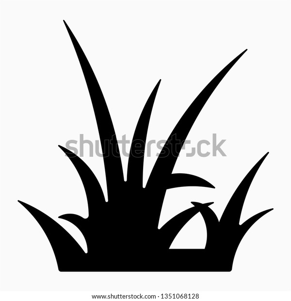glyph grass vector icon stock vector royalty free 1351068128 shutterstock