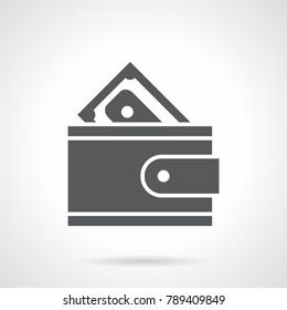 Glyph icon money purse
