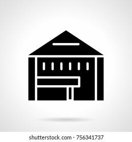 Glyph icon tent shop