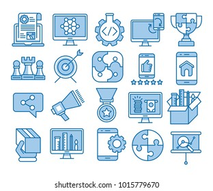 Glyph Icons Set of Search Engine Optimization icons, Simple solid Pictogram Pack, Vector Logo Concept, Web Graphic. Vector icons.