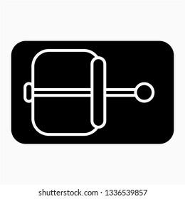 Glyph mousetrap vector icon