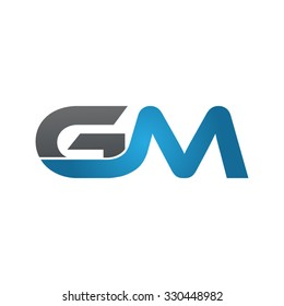 GM company linked letter logo blue