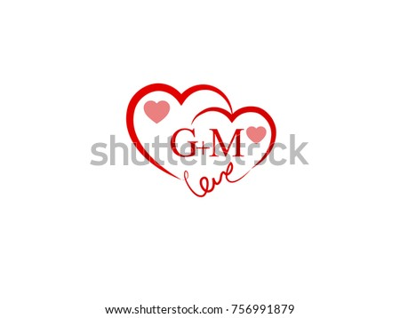 Gm Initial Wedding Invitation Love Logo Stock Vector Royalty Free
