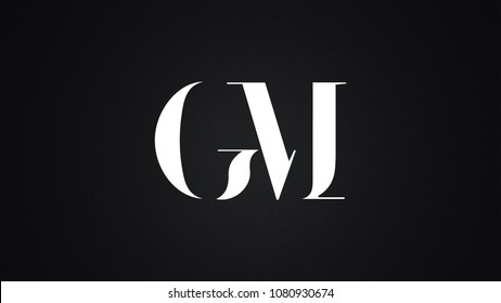 GM Letter Logo Design Template Vector