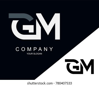 GM Letter Logo Design Template