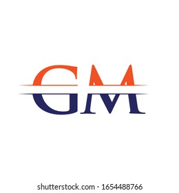 GM letter Type Logo Design vector Template. Abstract Letter GM logo Design