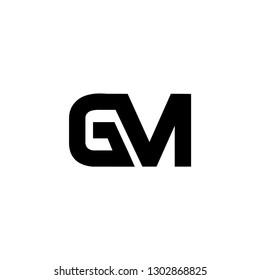 gm  letter vector logo
