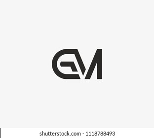 GM Linked Black Color Logo Design