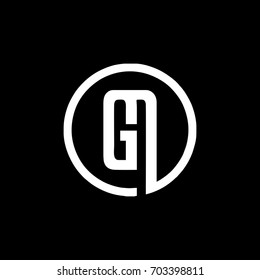 GM logo in black and white with circular