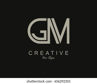 GM Logo. Letter design vector